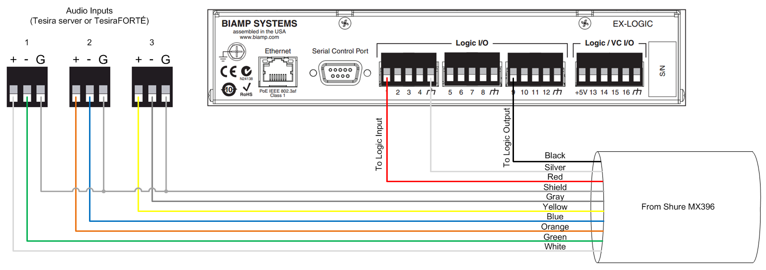 MX396?revision=1 connecting a shure mx396 to an ex logic biamp systems Cat 6 Cable Wiring Diagram at aneh.co